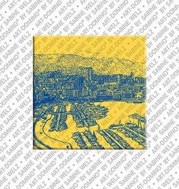 ART-DOMINO® by SABINE WELZ Magnet - Monaco - 09