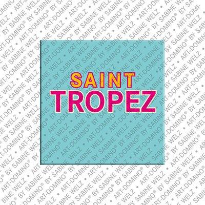 ART-DOMINO® by SABINE WELZ Saint Tropez  - Schriftzug Saint Tropez