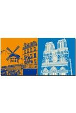 ART-DOMINO® by SABINE WELZ Paris - Moulin Rouge + Notre Dame