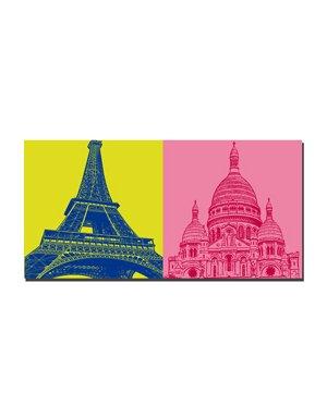 ART-DOMINO® by SABINE WELZ Paris - Eiffelturm  + Sacré-Coeur