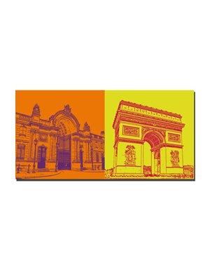ART-DOMINO® by SABINE WELZ Paris - Elyssee Palast  + L'arc de triomphe