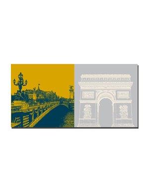ART-DOMINO® by SABINE WELZ Paris - Pont Alexandre  + L'arc de triomphe