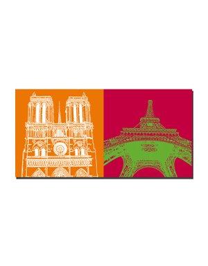 ART-DOMINO® by SABINE WELZ Paris - Notre Dame + Eiffel Tower