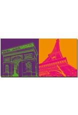 ART-DOMINO® by SABINE WELZ Paris - L'arc de triomphe + Eiffelturm