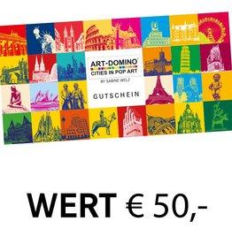 ART-DOMINO® by SABINE WELZ GESCHENK-GUTSCHEIN € 50