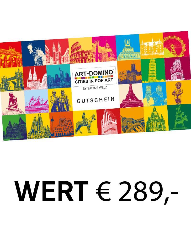 ART-DOMINO® by SABINE WELZ  Gift voucher worth € 289
