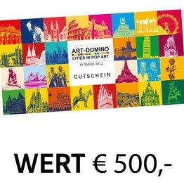 ART-DOMINO® by SABINE WELZ GESCHENK-GUTSCHEIN € 500