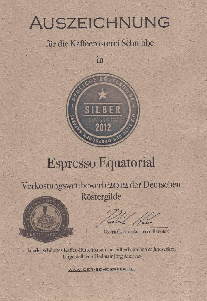 """Espresso Equatorial """"DRG Silbermedaille 2012"""""""