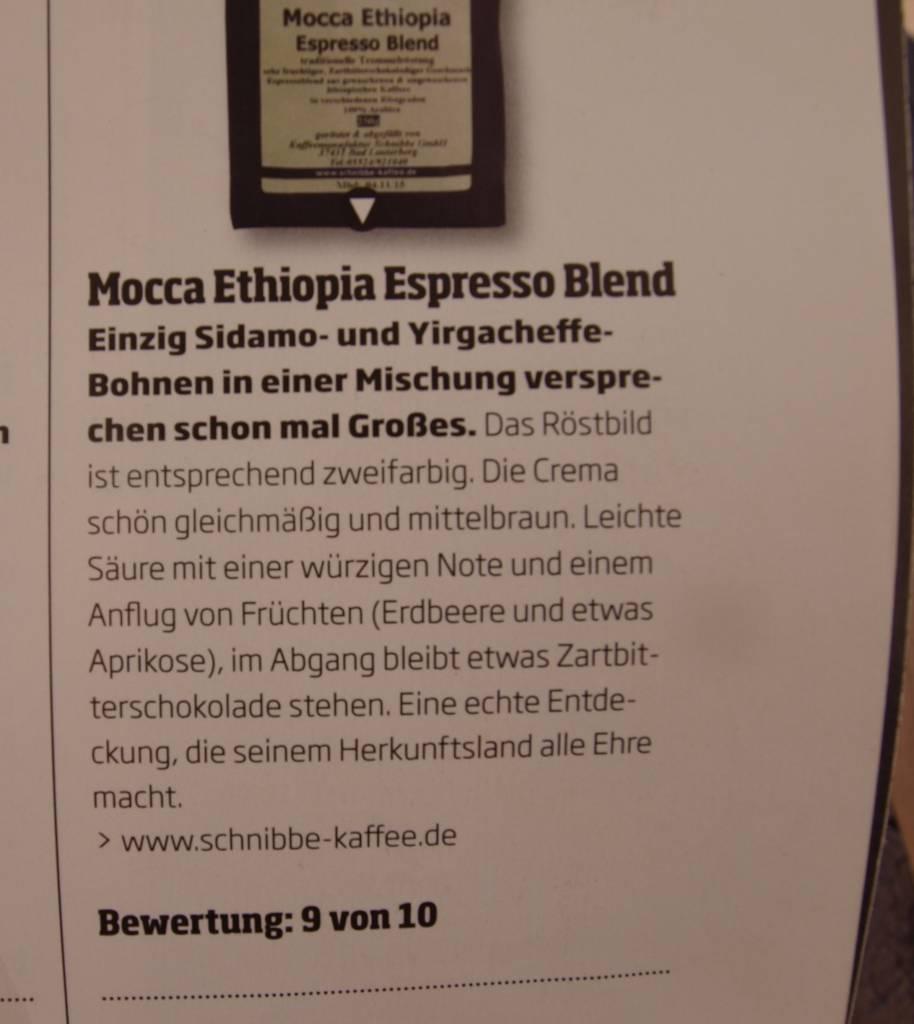 "Espresso Mocca Ethiopia ""DRG Goldmedaille 2013"""