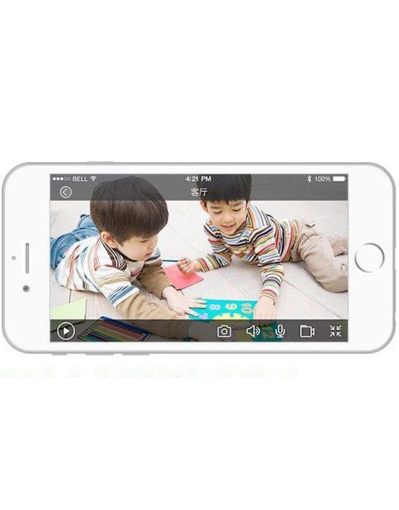 Cleverdog wifi camera nieuw model, 1280 x 720 pixels, en optie  cloud opslag, blauw