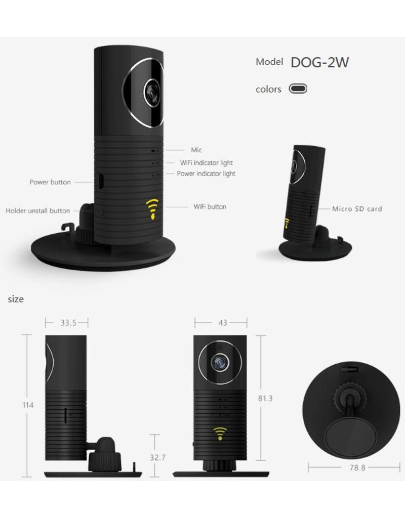 Cleverdog Panorama wifi camera zwart