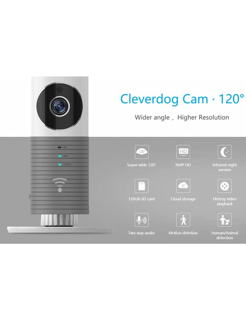 Cleverdog wifi camera gray 120 ° viewing angle