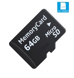 Kingston 64GB SD Card Speed ​​Class 10 + SD-Adapter