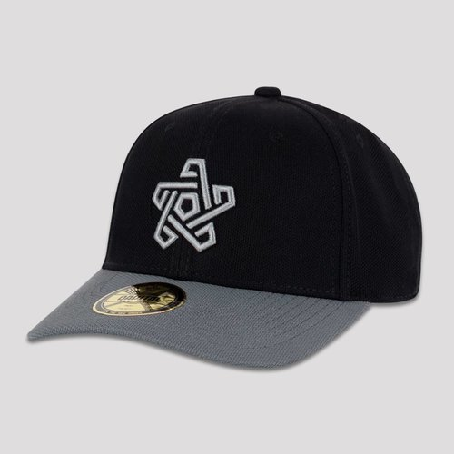 QAPITAL QAPITAL BASEBALL CAP BLACK/GREY