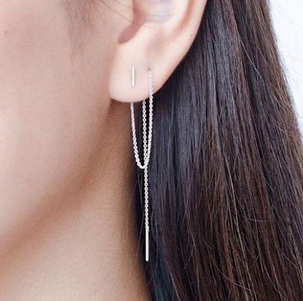 Swing our chain earrings