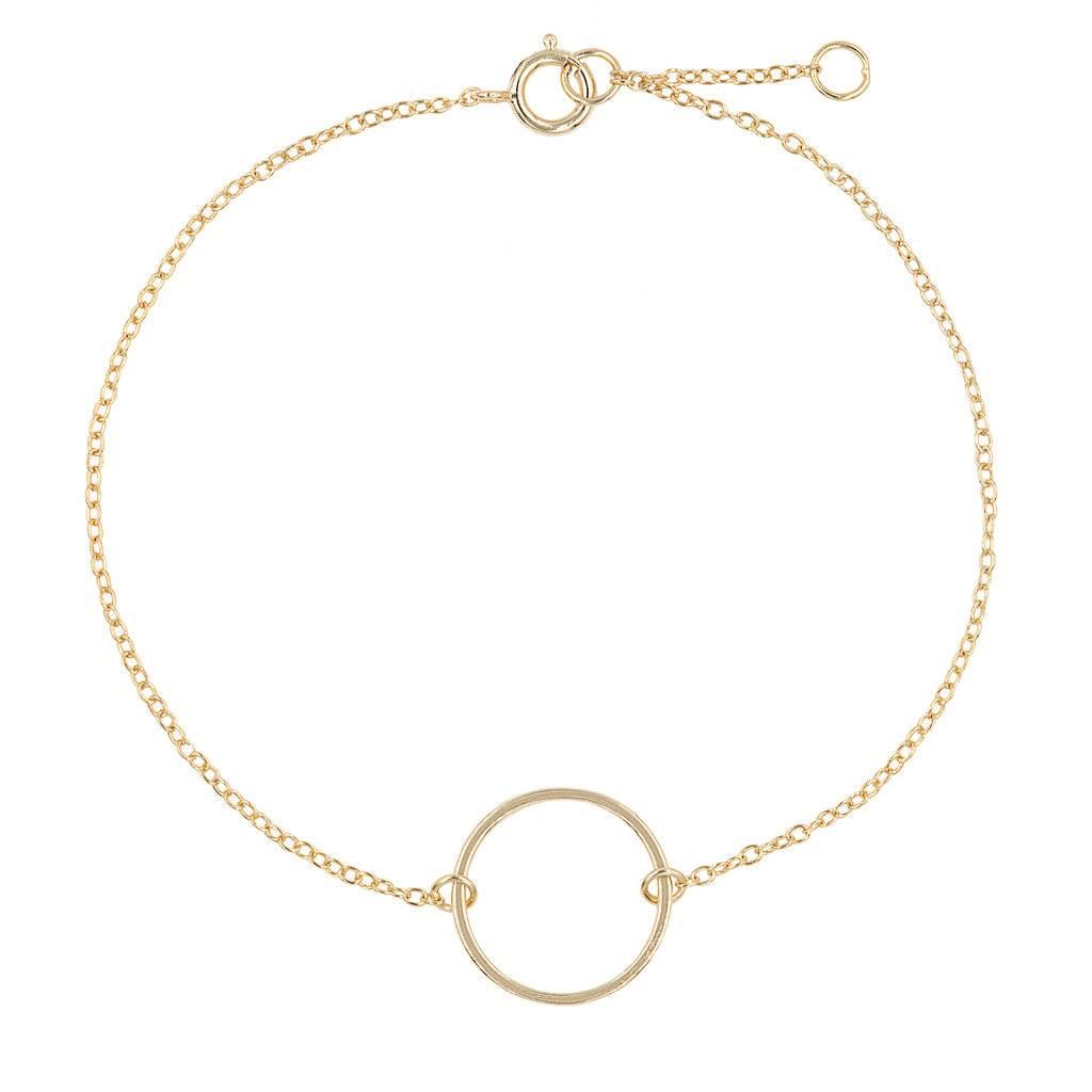 Armband aus vergoldetem Silber mit einem Ring