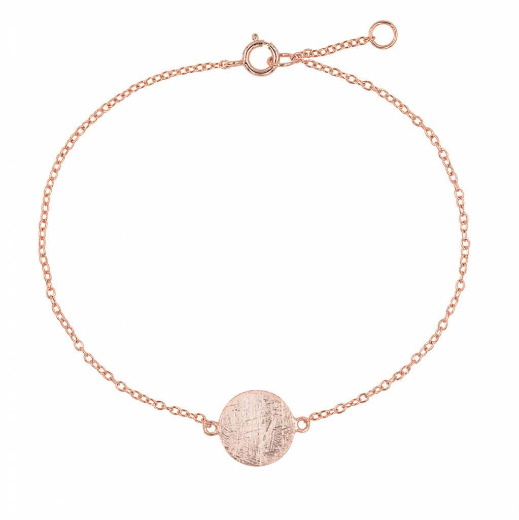 """Armband """"Plättchen"""" aus rosé vergoldetem Silber - Copy - Copy - Copy"""