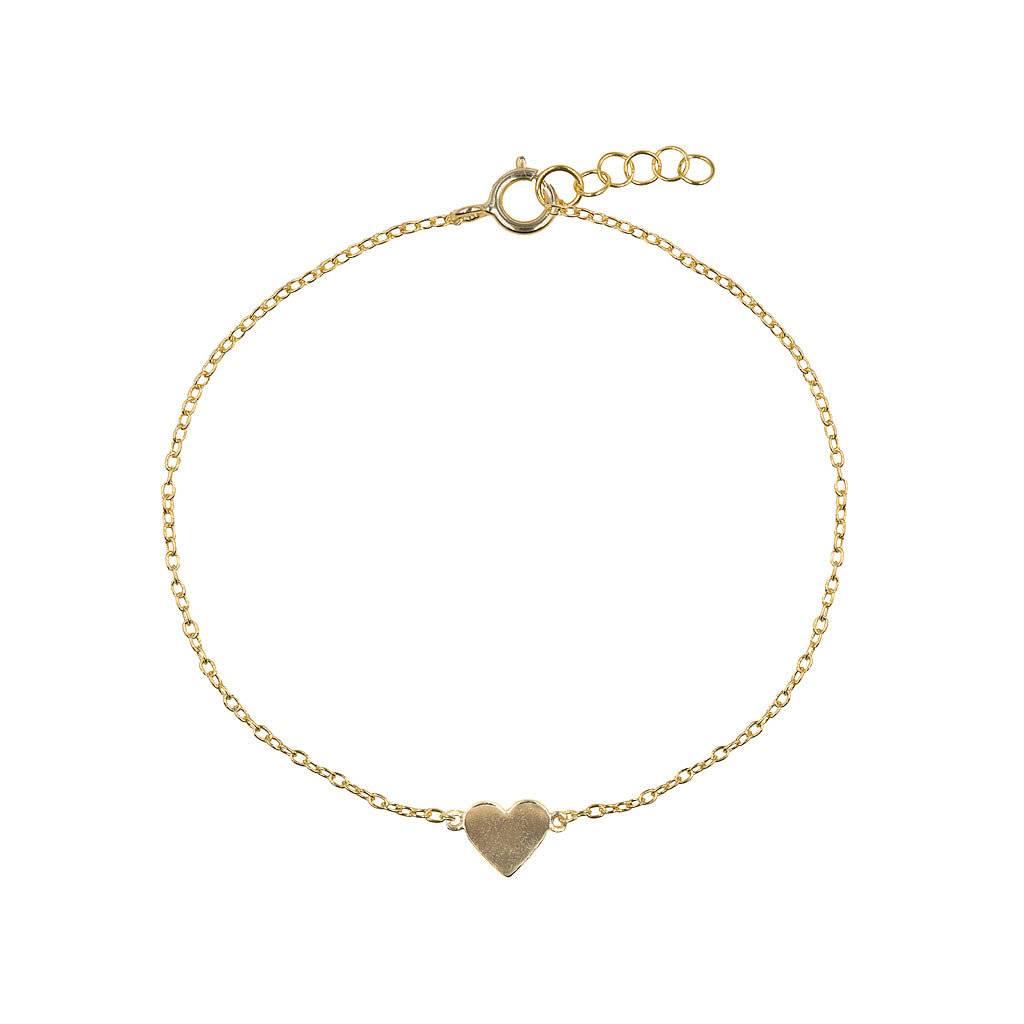 Armband aus vergoldetem Silber mit kleinem Herz