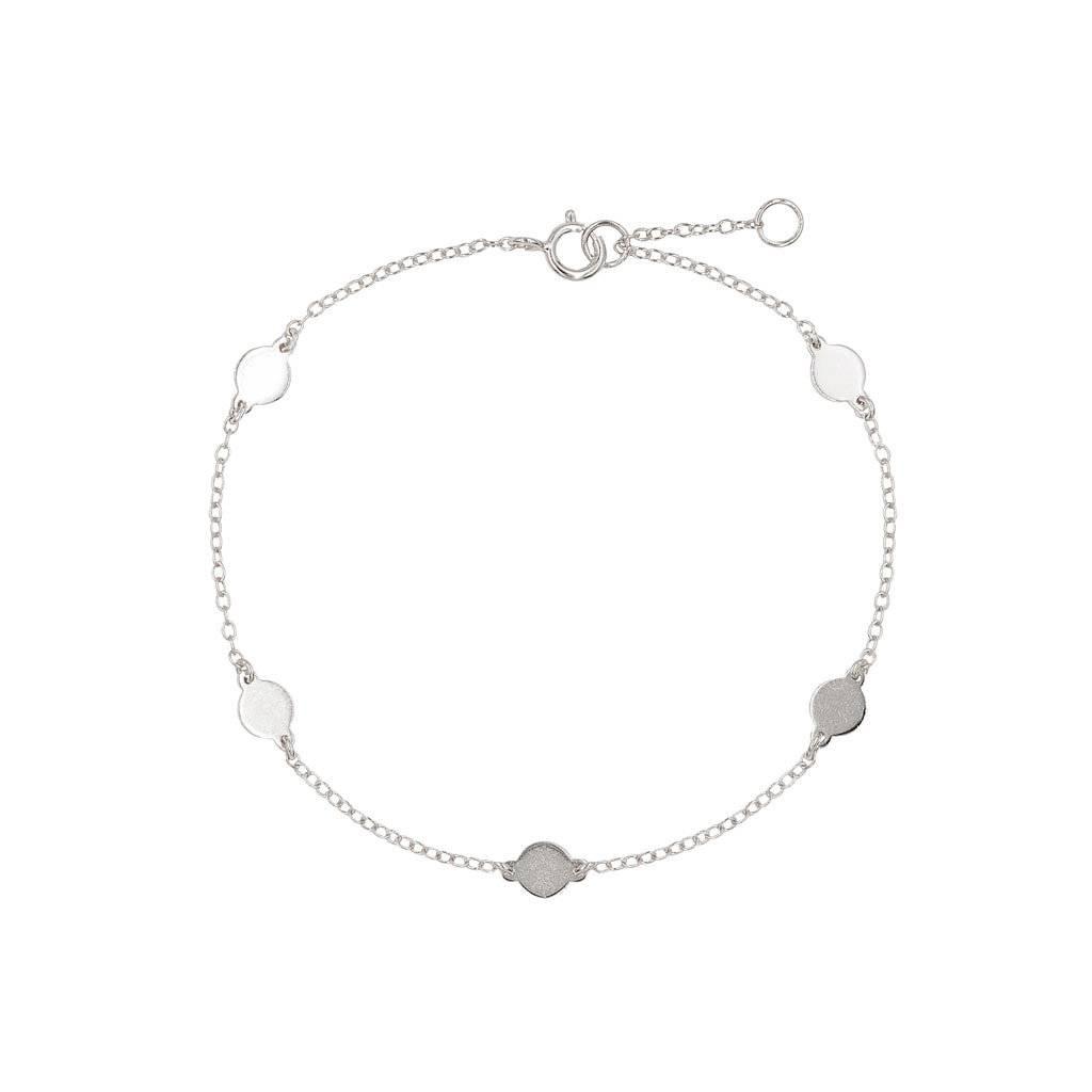 Armband Silber mit 5 Plättchen