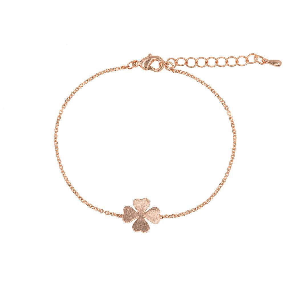 Armband - Kleeblatt rosé