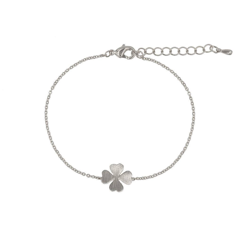 Armband - Kleeblatt silber