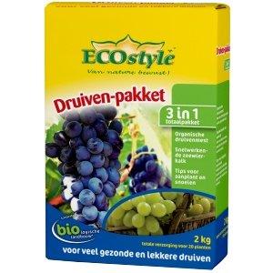ECOstyle Druiven-pakket 800gram natuurlijke meststof NPK 4-2-8 en kalk