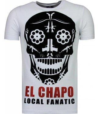 Local Fanatic Local Fanatic - El Chapo Flockprint T-shirt Wit