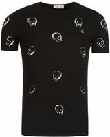 Young & Rich - Tunica T-shirt Skull Zwart