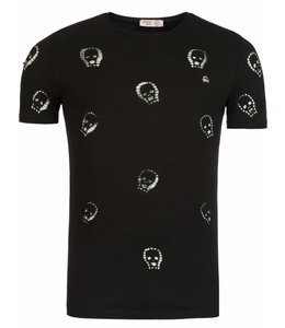 Young & Rich Tunica T-shirt Skull Zwart