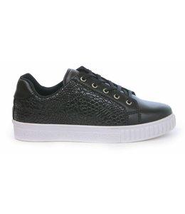 Manzotti Aldo Raffaello Lage Crocodile Sneaker Black
