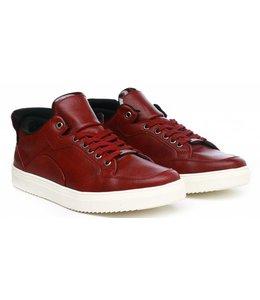 Manzotti Carrano Lage Nette Leren Sneakers Red