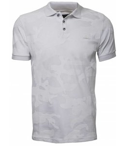 Pascucci Papito Camouflage Polo shirt Wit