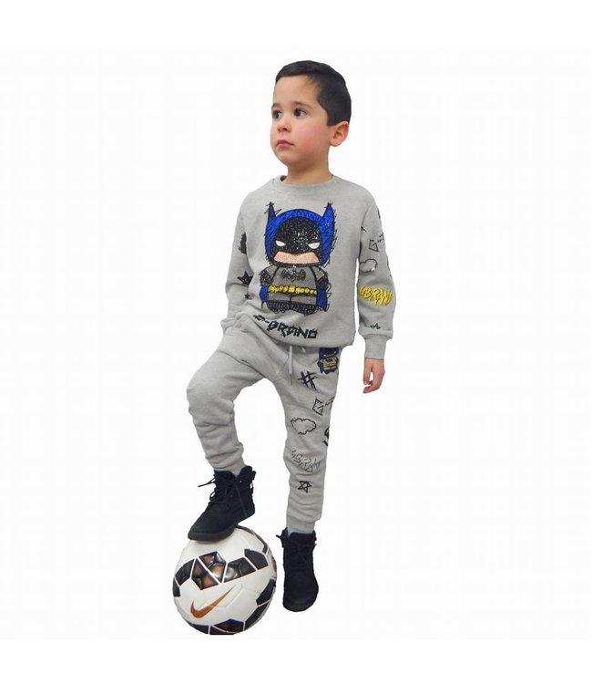 G-Brand Batman Joggingpak Grijs Kids