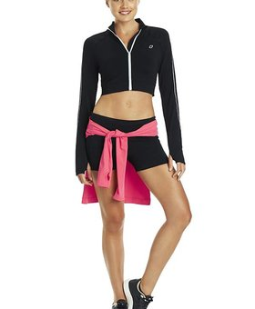 Lorna Jane Cropped Maxum Full Zip Through