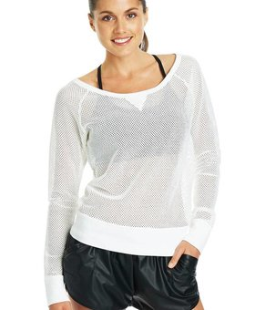 Lorna Jane Natasha Mesh Long Sleeve Sweat