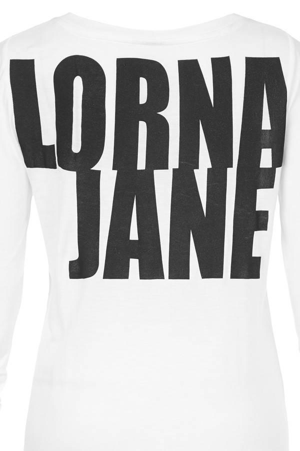 Lorna Jane White LJ Classic L/Slv T-Shirt