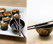Colorful crispy chicken and quinoa sushi recipe! (Posted on 6 July 2014)