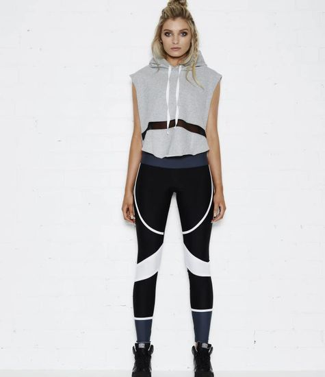 Tully Lou The Bronx Top – Cropped Hoodie with mesh