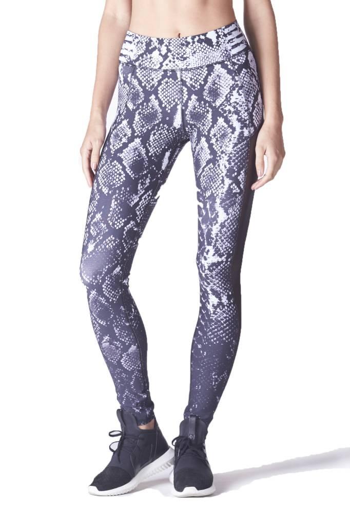Michi Stardust Legging - Black & White Python