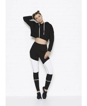 Tully Lou Cropped Fleece Hoodie
