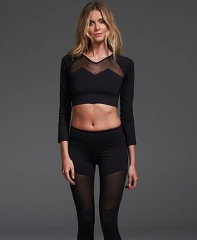 Varley Alpine Crop Black