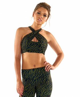 L'urv Wild Thing Wrap Halter Crop
