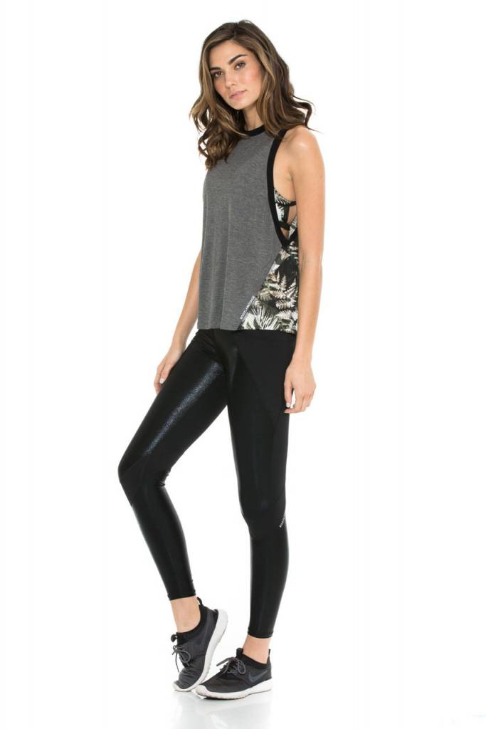 Body Language Sportswear Mia Tank - Heather Grey/Tropical Illusion