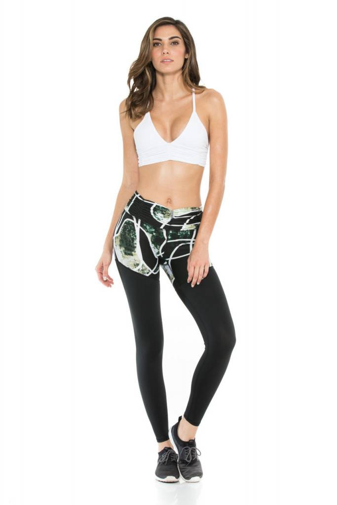 Body Language Sportswear Callia Pant - Black Mosaic