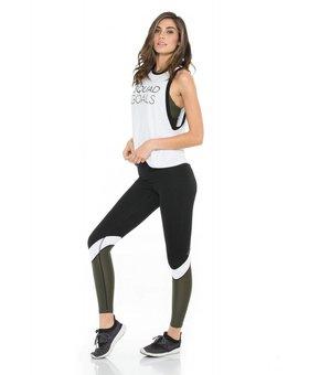 "Body Language Sportswear Graphic Mia Tank - White/Black ""Squad Goals"""