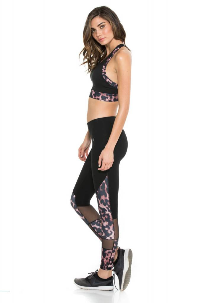 Body Language Sportswear Nic Legging - Wildcat/Black/Black Power Mesh