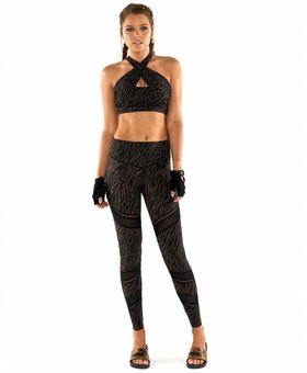 L'urv Wild Things Spliced Legging  - Chocolate