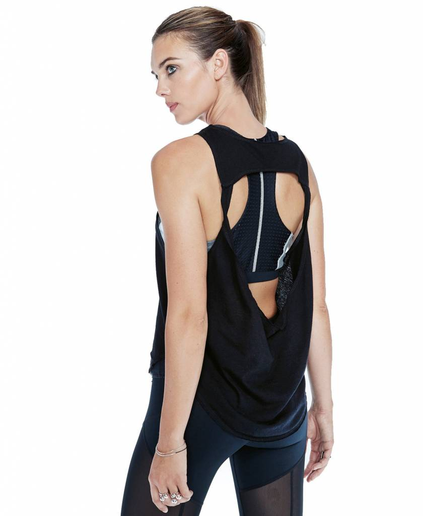 Vimmia Pacific Pintuck Open Back Tank Black
