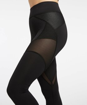 Michi Illusion Legging - Black with Denim