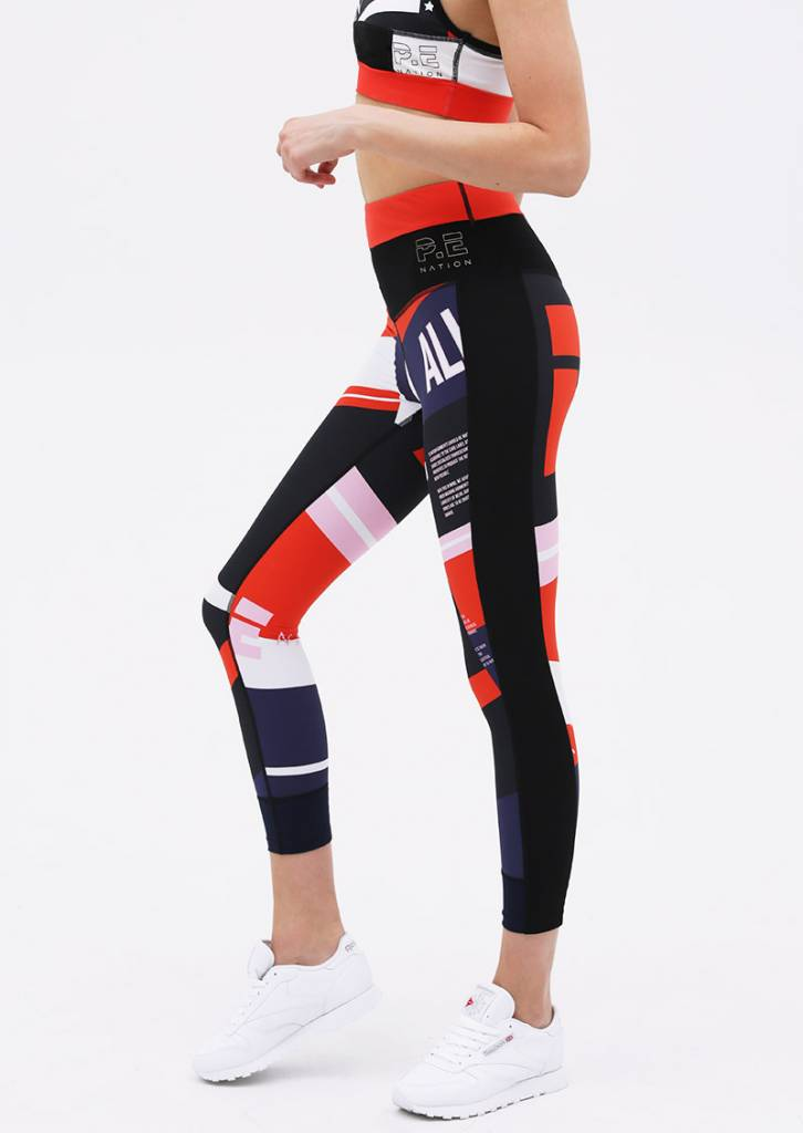 P. E Nation Conversion Legging Print